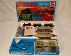 Marklin H0 - 2920/7390 - Complete train set with extra level crossing