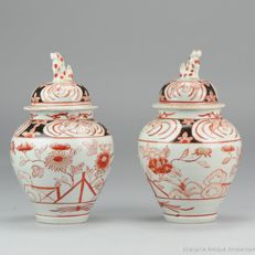 Imari Porcelain Fenghuang Vases - Japan - early 18th century (Edo period)