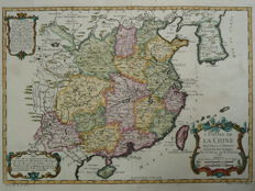 China, Korea; Nicolas Bellin - L'Empire de la Chine (...) - 1747