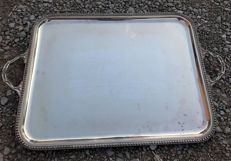 Large silver plated metal tray, St. Hilaire, 20th century, France