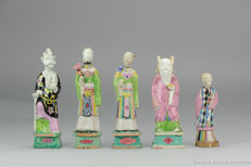 Antique Immortal Porcelain Statues Qianlong Period  - China -  18th century