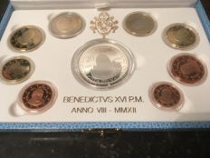 Vatican - Year pack Euro coins 2012 Benedict XVI, including silver 20 Euro