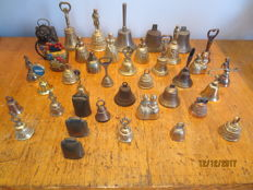 Collection of bells, 40 items