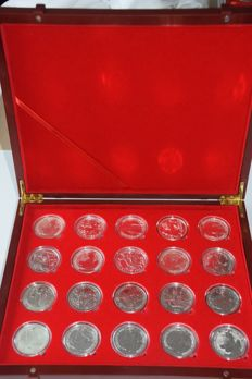 Great Britain - 2 Pounds 1998 to 2017 - Britannia series (20 pieces including collector's box) - silver