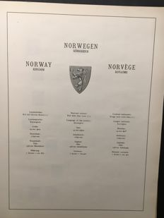 Norway - Collection in 1 Victoria album, 1 large stockbook and on many pages