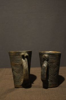A Pair of Kuba Cups - Democratic Republic of the Congo