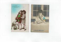 Children's cards, Romance-Easter and Christmas/new year period:1920-1960