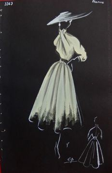 Pierre Cardin (attributed to) - Grande robe pour une parisienne