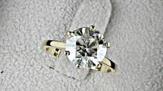 3.00 ct round diamond ring made of 14 kt yellow gold **** NO RESERVE PRICE ***