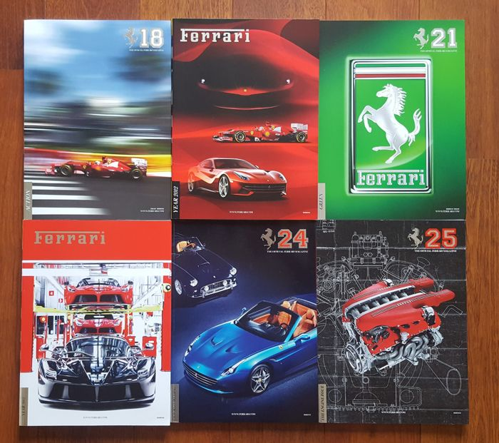 Lot of 6 The Official Ferrari Magazine
