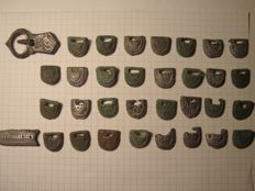belt (bronze) -ancient Russia - 33 parts