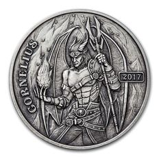 USA - Steampunk Series - Angels & Demons - Cornelius - 5 oz of 999 silver - Antique finish - Edition of only 750 pieces - With certificate