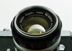 Nikon 50mm f/1.4 NIKKOR-S Auto  (1966-1974) With a free extra, a functioning, but heavily used Nikkormat FTN