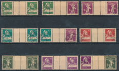 Switzerland 1930/1935 - Related combinations with gutter - SBK S34/S42