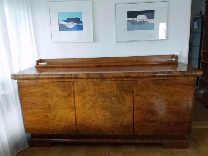 Art Deco Sideboard Walnut Burl Wood Veneer Catawiki