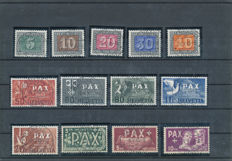 Switzerland 1945 - PAX with a central first day cancellation - SBK 262/274