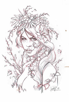 Poison Ivy by Juapi - Original Preparatory Sketch