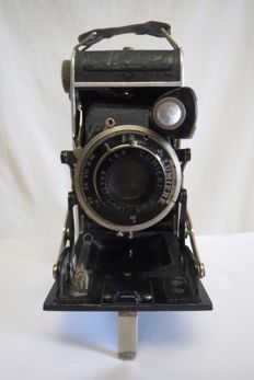 "One of the first cameras of the Lumière Brothers. Lumière ""Lumix"". France 1936."