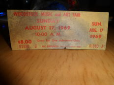 Woodstock Ticket and Soundtrack LP´s
