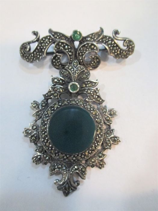 Art Nouveau silver brooch - Early 20th century, Italy