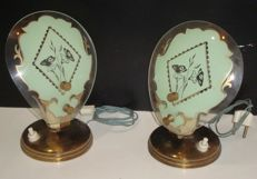Unknown designer - Lot of 2 bedside lamps/ table lamps