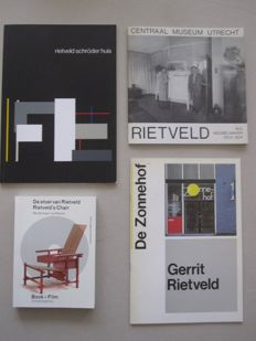 Gerrit Rietveld; Lot with 4 publications - 1975 / 2012