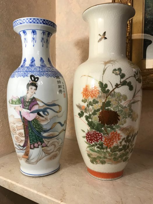 Two wonderful signed Chinese vases - China - Second half of 20th century