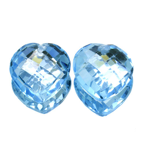 Two blue topazes – 22.93 ct (11.34 ct + 11.62 ct ).