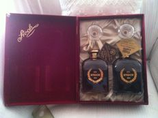 1985, Brandy - Stock 84 and Coffee Liquor With Certificate of Authenticity