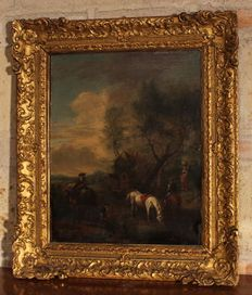 France 19th century - Painting depicting a rural scene