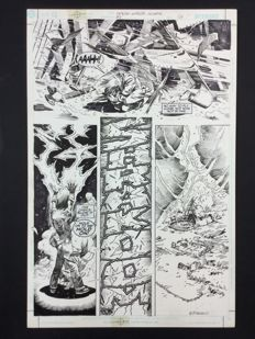 Original Art Page by Enrique Breccia - (p. 16) - Legion Worlds: Winath - (2001)