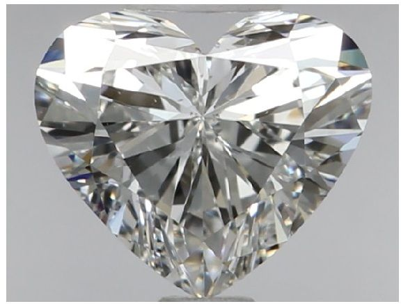 0.70 Carat Heart Brilliant Diamond, F VS2, GIA Report - # 2361