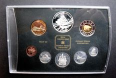 Canada - Yearset (Proof) 2003 '100 Anniversary of the Cobalt Silver Strike' (8 different) incl. 5x silver)