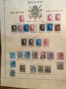 Belgium - Classic collection on album sheets