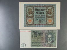 Germany - German Reich - 36 assorted mint banknotes 1914-1945