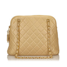 Chanel - Matelasse Lambskin Leather Shoulder Bag