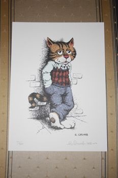 """Fritz the cat"" Robert Crumb Limited Signed print 2015"