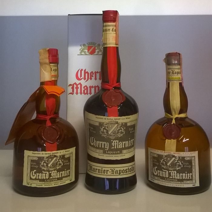 1x grand marnier cordon rouge 74 cl bottle 39 70s 1x for Grand marnier cordon jaune aldi