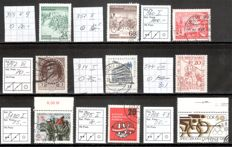 GDR 1953-90, cancelled batch with various plate errors