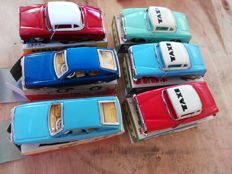 STF, China - Length 15 cm - Lot of 6 friction powered tin models, 1970s
