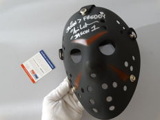 Friday the 13th - Jason Voorhees signed mask - signed by Jason Voorhees actor Ari Lehman