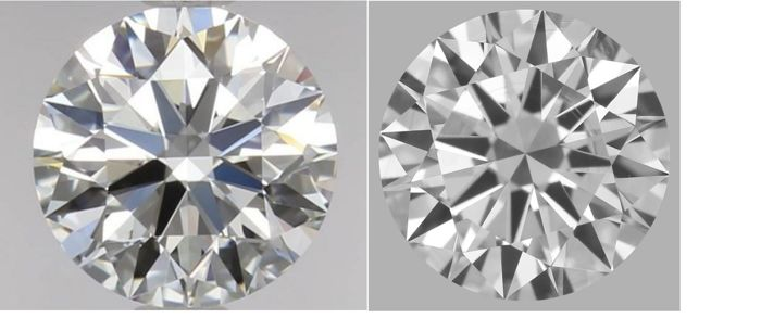 Pair of Round Brilliant  Diamonds 1.14ct Total D IF  GIA  #2166-2162
