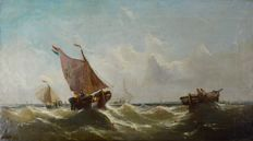 William Henry Williamson (1820-1883) - Dutch fishing vessels in a squall