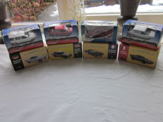 Polistil / Classic Sports Cars - Scale 1/43 - Lot with 8 Models: 4 Volvo, Aston Martin, Lancia, Borgward & Renault