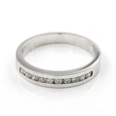 18 kt/750 white gold - Cocktail ring - Brilliant-cut diamonds 0.60 ct - Cocktail ring size 12 (ES)