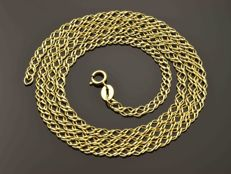 "18k Gold Necklace. Chain ""Rombo"" - 50 cm"