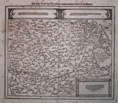 Germany / The Netherlands, South Holland, North Rhine, Westphalia, Lower Saxony; S. Munster - Die dritte Tafel des Rheinstroms - 1574