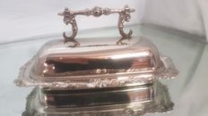Nice silver plated butter dish with lid