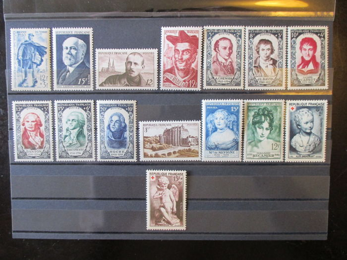 France 1950/1954 – 5 complete years – Yvert 863/1007.