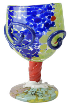 Vetreria Murano Design - Collectable stem glass from the Gaudì series